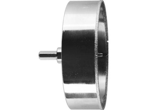 Коронка алмазная по кафелю и стеклу, d=120 мм, зерно Р 60, в сборе с центрирующим сверлом и имбусовым ключом, ЗУБР Профессионал 29850-120