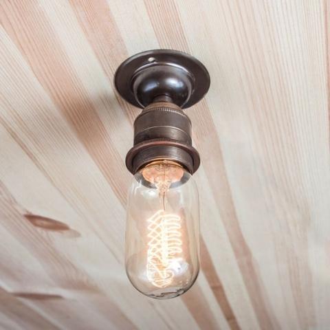 Настенно-потолочный светильник (спот) Состаренная латунь 76-1 Англия