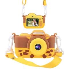 Фотоаппарат детский с вспышкой SmileZoom Жираф 24 Мп ремешок