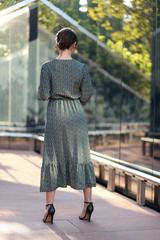 Зеленое платье с длинными рукавами недорого