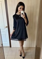 Єва. Молодіжна велюрова сукня. Чорний