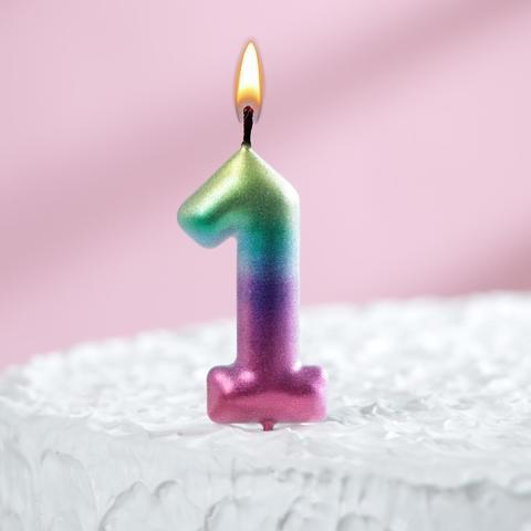 Свеча восковая для торта
