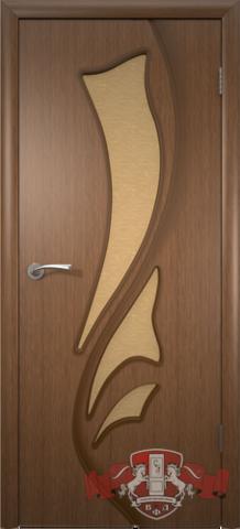 Дверь 5ДО3 (орех, остекленная шпонированная), фабрика Владимирская фабрика дверей
