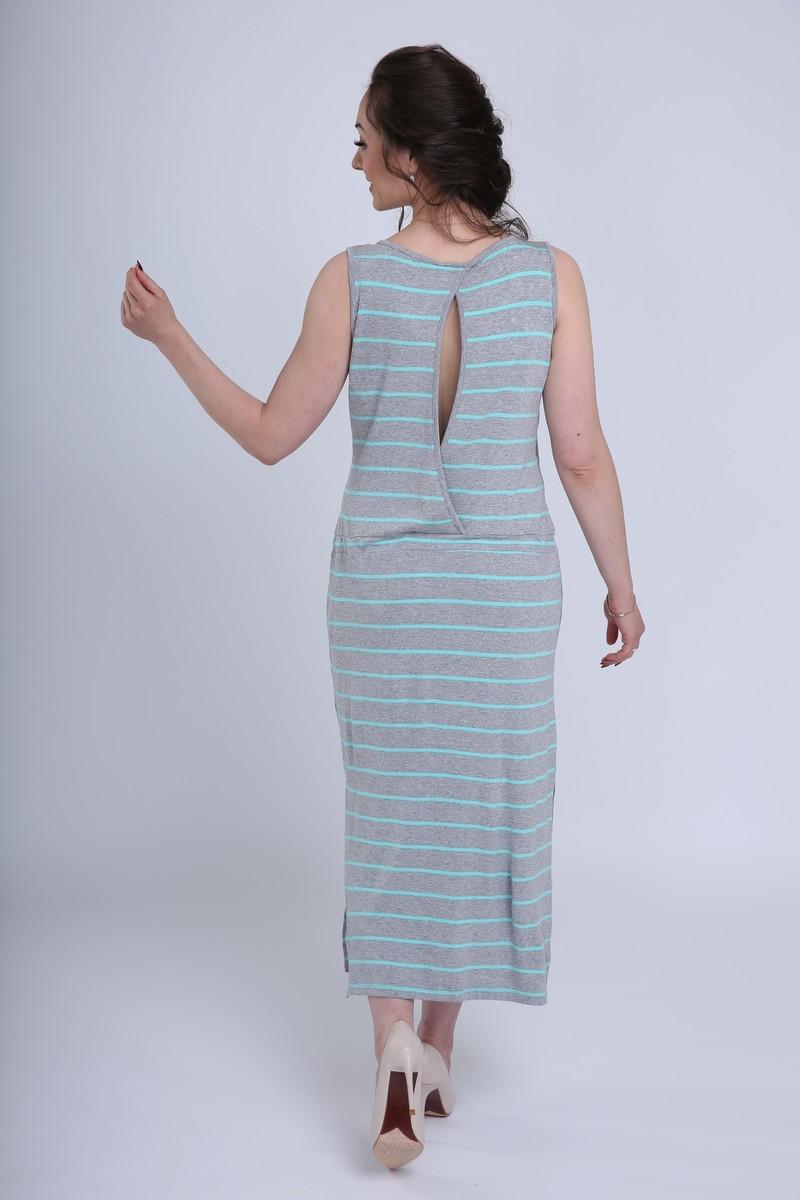 Фото платье для беременных MAMA`S FANTASY, трикотажное от магазина СкороМама, серый, размеры.