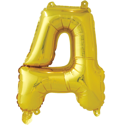 Буквы русского алфавита из фольги, золотые, 41 см
