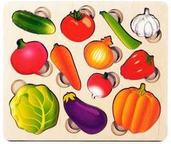 Развивающая доска Овощи. Часть и целое, Нескучные игры
