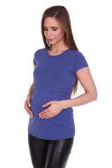 Мамаландия. Футболка для беременных и кормящих, индиго вид 2