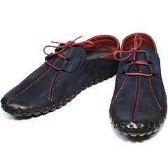 Туфли на плоской подошве мокасины мужские лето Luciano Bellini 23406-00 LNBN.