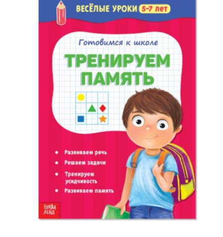 071-5094 Весёлые уроки «Готовимся к школе. Тренируем память», 5–7 лет, 20 стр.
