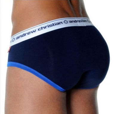 Мужские трусы брифы Andrew Christian Navy Almost Naked Sports Brief