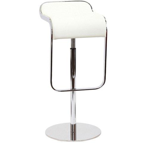 Барный стул LEM  Style Piston Stool белая кожа