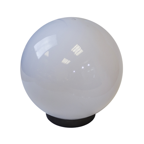 Садово-парковый светильник шар молочный D200mm с пластиковой опорой H1000mm