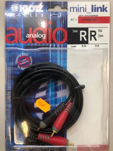 KLOTZ AT-CC0200 - Соединительный аудио кабель RC204