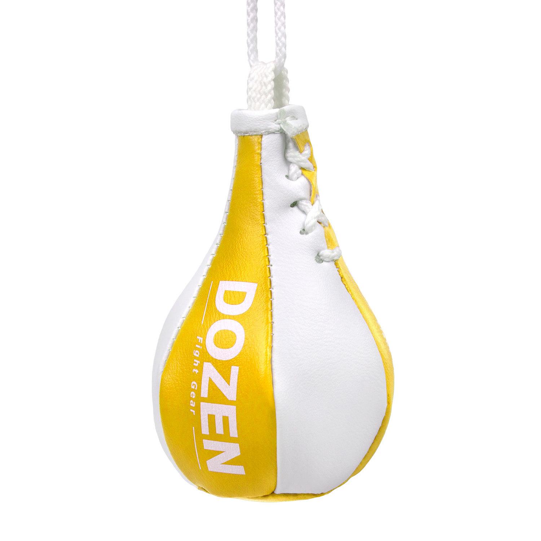 Брелок мини-груша Dozen Light желто-белый главный вид