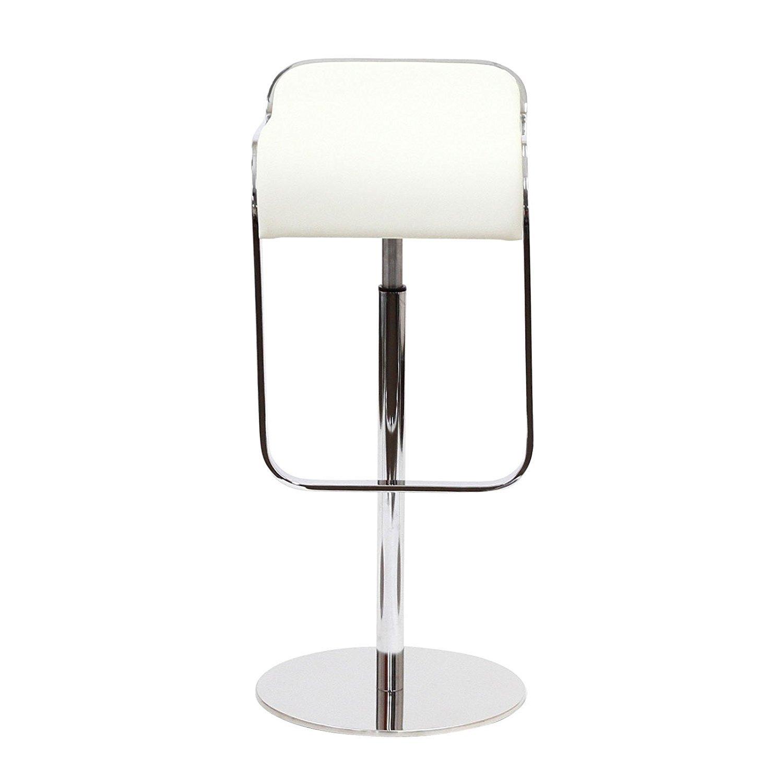 Барный стул LEM  Style Piston Stool белая кожа - вид 2