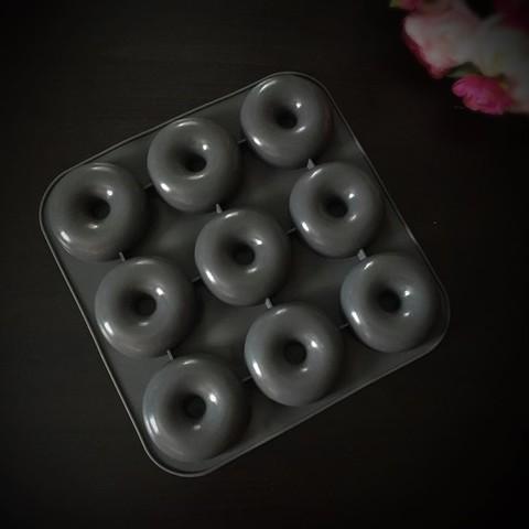 Силиконовая форма для выпечки Пончики 9в1