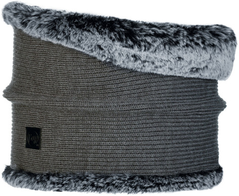 Модный шарф-труба Buff Neckwarmer Knitted Comfort Kesha Grey фото 1