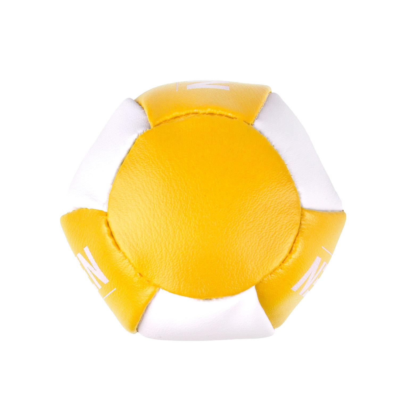 Брелок мини-груша Dozen Light желто-белый вид снизу