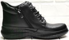 Женские демисезонные ботинки на молнии Evromoda 535-2010 S.A. Black.