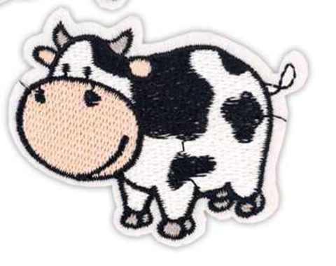 Нашивка клеевая Корова 5х6 см