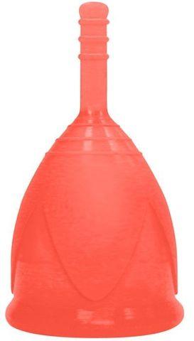 Красная менструальная чаша размера L