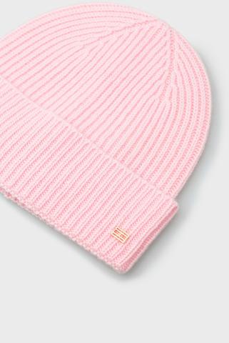 Женская розовая кашемировая шапка TH Tommy Hilfiger