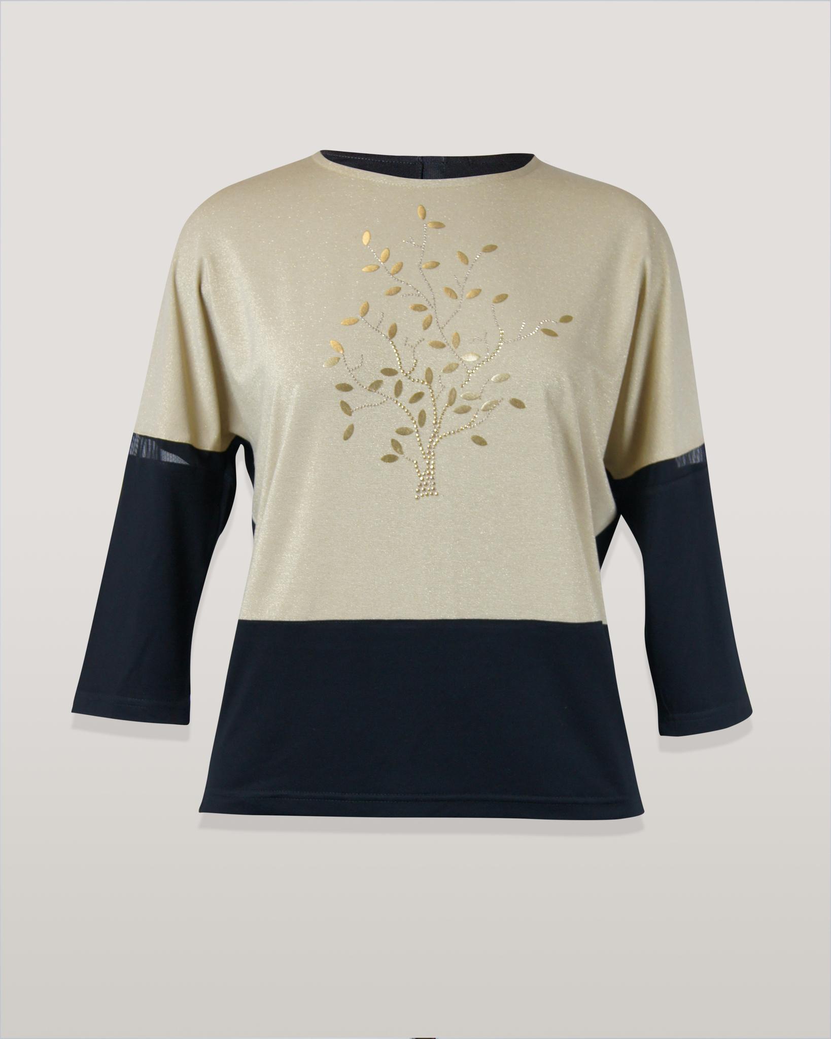 Блузка Per Mio 1478 дерево