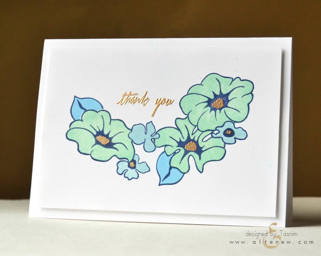 Набор штампов Whimsical Flowers