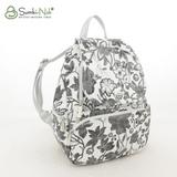 Сумка Саломея 502 цветы + серебро (рюкзак)