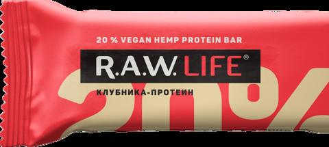 БАТОНЧИК НАТУРАЛЬНЫЙ R.A.W. LIFE Клубника-протеин