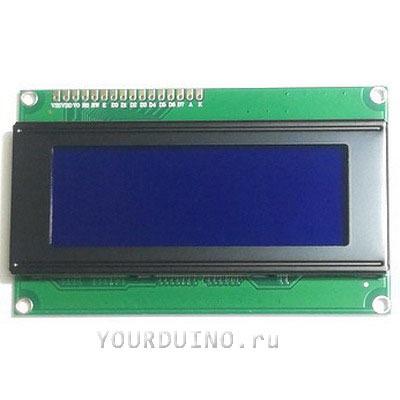 Дисплей LCD2004 (синий) + I2C Конвертер