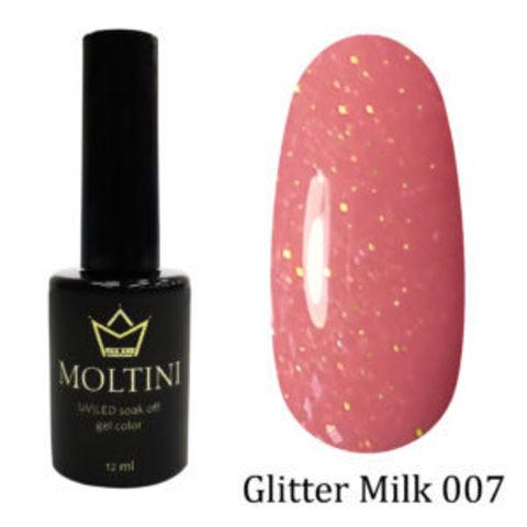 Гель-лак Moltini GLITTER MILK 007, 12 ml