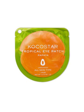 Kocostar Гидрогелевые патчи для глаз Папайя 1 пара / Tropical Eye Patch (Papaya) Single