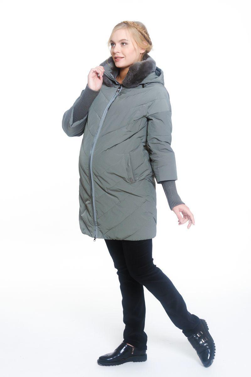 Куртка для беременных 07885 серо-зеленый