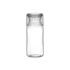 Пластиковая банка с мерным стаканом (1,3 л), Прозрачный