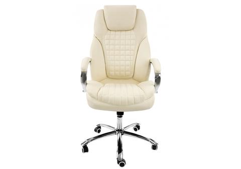 Офисное кресло для персонала и руководителя Компьютерное Herd cream 69*69*136 Хромированный металл /Cream