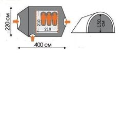 Палатка WoodLand Tower 3 0030751