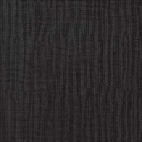 Текстурированный кардсток 30х30 American Crafts Textured Cardstock - Цвет Black