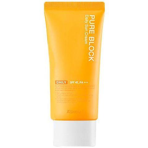 A'Pieu Pure Block Natural Daily Sun Cream SPF45/PA+++ солнцезащитный крем