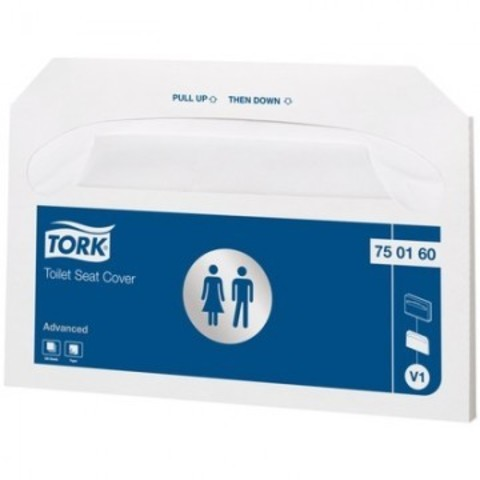 Одноразовые покрытия на унитаз Tork V1 750160 (250 штук в упаковке)