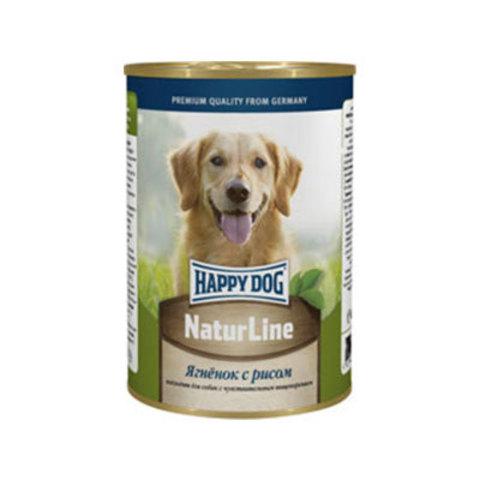 HAPPY DOG Консервы для собак с ягненком и рисом 8000 г. (400г.*20)