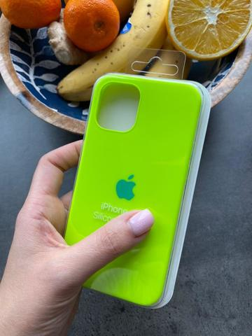Чехол iPhone 12 (6,1) Silicone Case Full /juicy green/