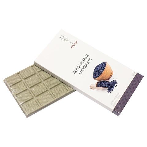 Шоколад Okasi с черным кунжутом 80 гр