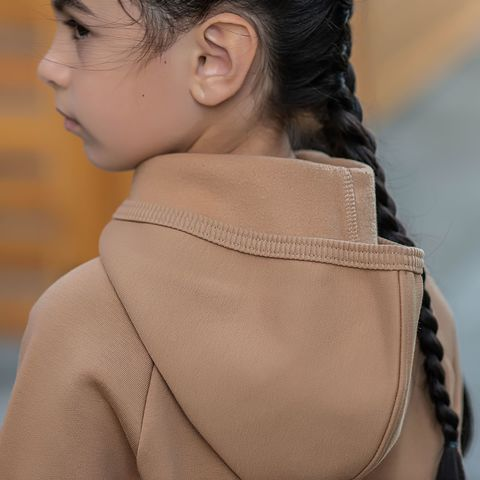 Warm hooded jumpsuit with flap for teens - Desert Sand