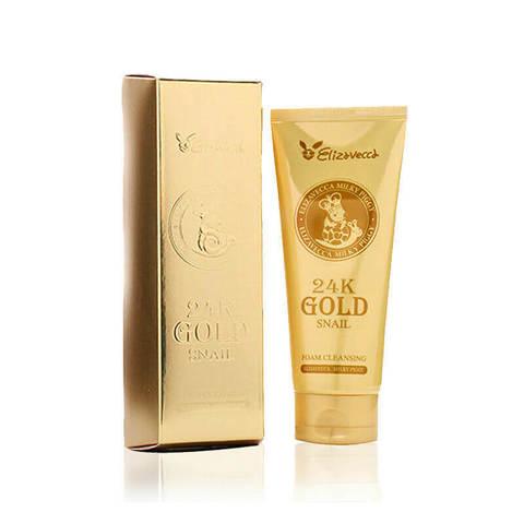 ЕЛЗ 24k Gold Пенка для умывания улиточная 24k gold snail Cleansing Foam 180мл (10702070/041019/02046