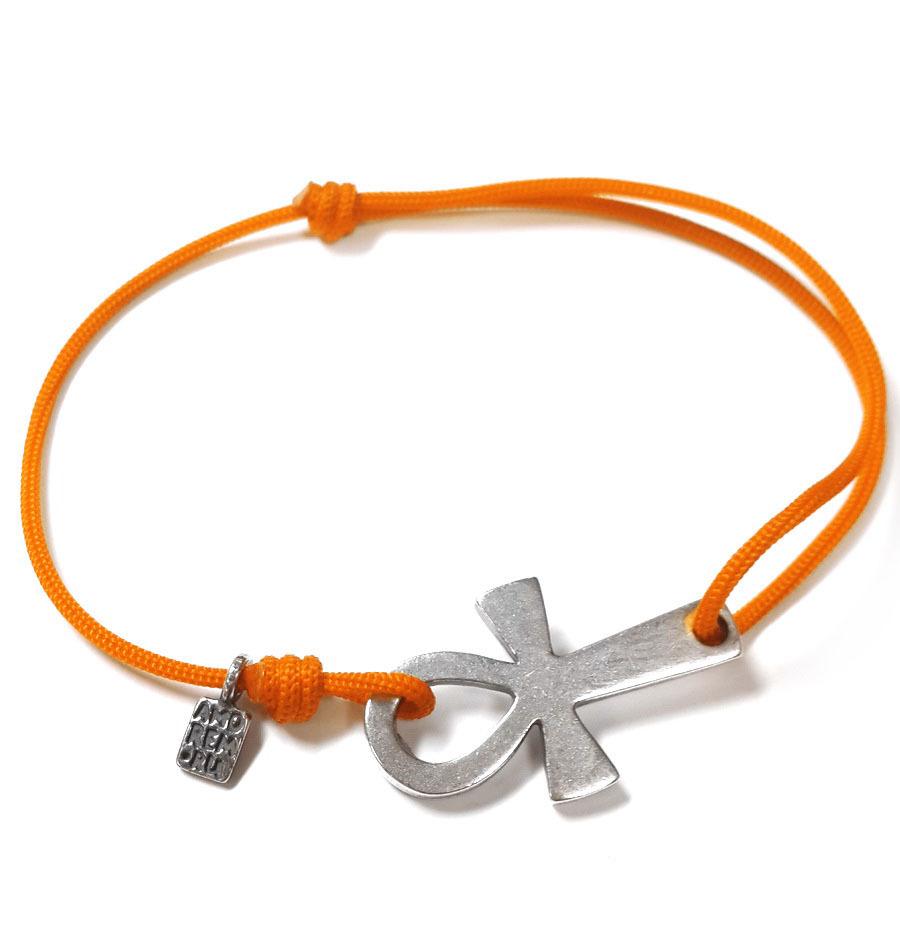 Ankh Egyptian Cross Bracelet, sterling silver