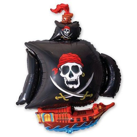 Шар фигура Корабль пиратский черный