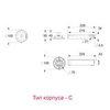 Размеры электронного блока аварийно-эвакуационного светильника серии ZONESPOT II – тип корпуса C