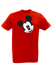 Футболка с принтом Микки Маус (Mickey Mouse) красная 002