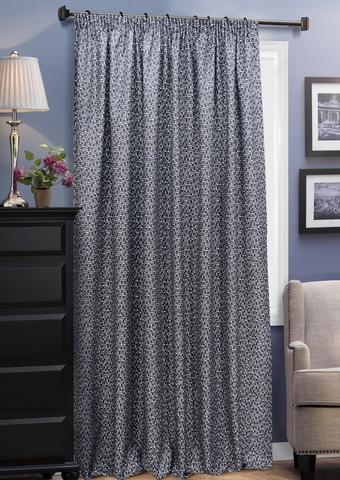 Готовая штора из двухстороннего жаккарда Домино насыщенный серый